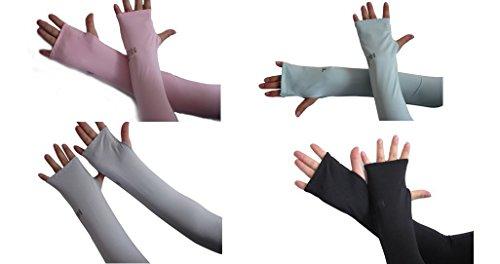 alkeke 4 Pairs UV Protection Cooler Arm Sleeves for Bike/Hiking/Golf