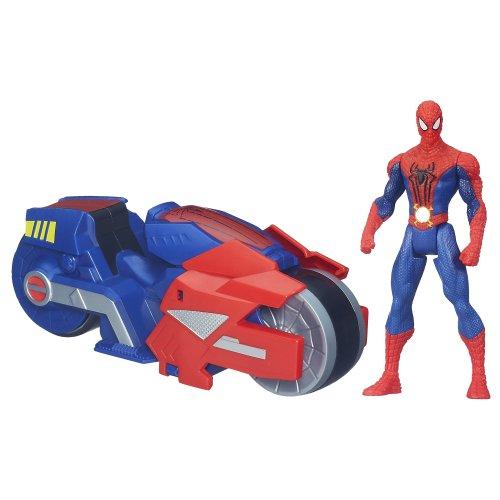 Hasbro - Spiderman Véhicule Spider Strike Blaze Wing Cycle