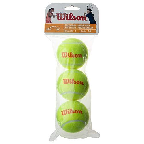 Wilson(ウイルソン) ジュニア・キッズ用 テニスボール スポンジボール STARTER ORANGE(スターターオレンジ) 3個入り イエローxオレンジ WRT137300 ウィルソン