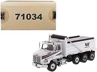 Western Star 4700 SB Dump Truck White 1/50 Diecast Model by Diecast Masters 71034