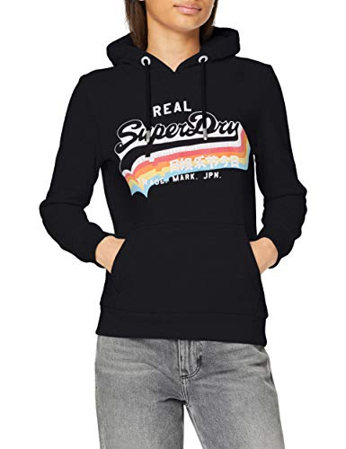Superdry Womens VL NS Hood Sweater, Eclipse Navy, M (Herstellergröße:12)