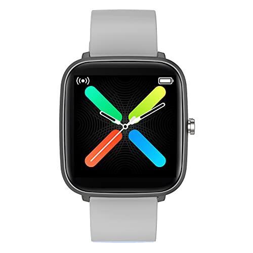 Reloj inteligente para teléfonos Android y iOS compatible con iPhone Samsung, impermeable IP68, rastreador de fitness con frecuencia cardíaca, monitor de sueño, podómetro, reloj para hombre y mujer