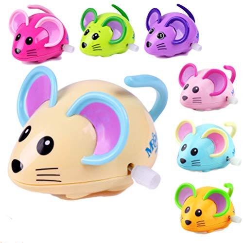 Creacom ネズミ おもちゃ 発条 ねじ巻き 子供 巻き上げ 想像力を訓練 マウス おもちゃ 玩具 人気 かわいい かわいい 動物 発条付き 動物形 教育おもちゃ(ランダム色)