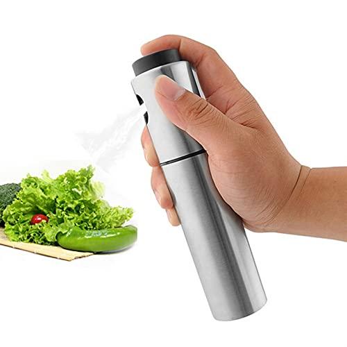 Pulverizador de aceite para cocinar, rociado de aceite de oliva, botella de spray de cocción, atomizador / pulverizador de acero inoxidable Botella de señoras para la parrilla de aceite, freír y asar