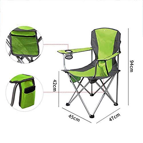 L@LILI Chaise de Camping Pliante extérieure Portable avec Porte-gobelet, léger Compact Haut Dos Iounge Chaise randonnée Plage pêche,B