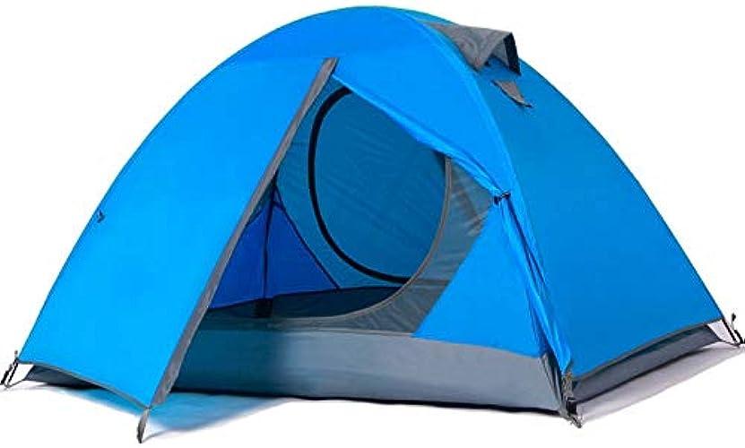 RURY Tente de voyageDouble Tente, Double Prougeection Imperméable à L'Eau Et Coupe-Vent UV, Plage Parfaite extérieur Camping Touristique pêche