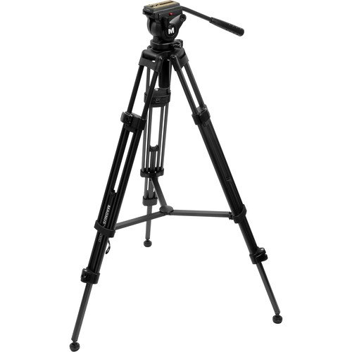 Magnus VT-4000 Anodized Aluminum Professional Video Tripod System with 2-Way Fluid...