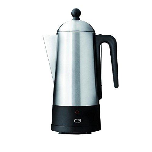 C3 30-32001 Perkolator, Edelstahl, 6 Cups, Silber