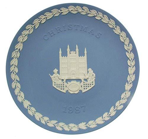 Wedgwood Jasperware Sammlerteller für Weihnachten 1987 Guildhall London