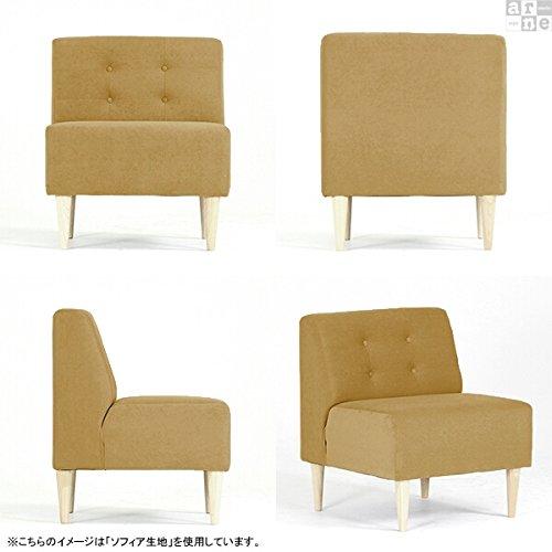 arneソファ一人掛けアームレス日本製完成品Lunch3×3合皮ナチュラル脚合皮ダークブラウン