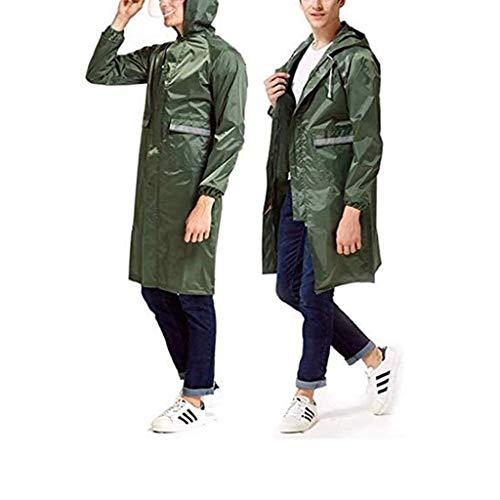 JKL Regenjacke, Lange Kleidung, wasserdicht, mit Kapuze, Regenponcho, für Erwachsene, Unisex, wasserdicht, Marineblau