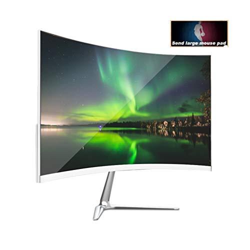 TF-G277 Monitores de computadora curvos Full HD de 24 Pulgadas, 1920 * 1080P 75hz IPS Pantalla LED Gaming Widescreen 2 Ms, para el hogar y la Oficina, 1800R Curvature (HDMI + VGA) Negro 2020