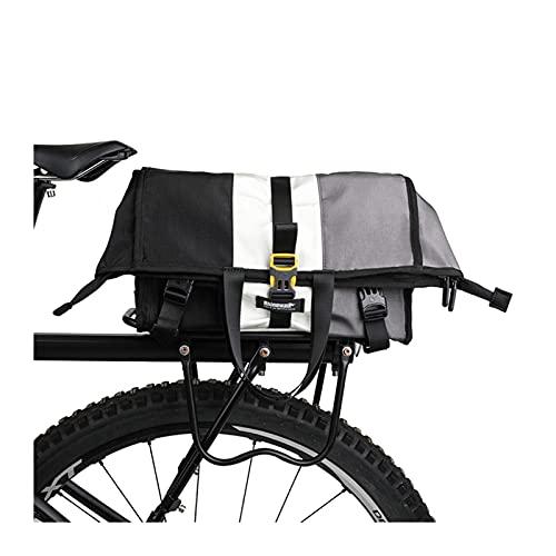 Alforja Para Bicicletas Bolso Messenger Multifunción Multifunción 25L para montar a caballo Trabajo de viaje Viaje de negocios Portátil Pannier Bag Bolsa de ciclismo Bolsa Alforja Para Bicicleta