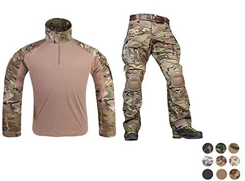 Emerson Airsoft Military BDU Tactical Suit Combat Gen3 Uniform Shirt Pants (Coyote Brown, Small)