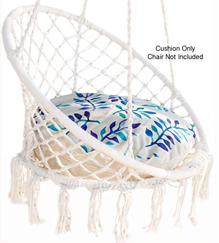 Nooksta Cushion only for Macrame Hanging Chair- Cushion for Hanging Chairs for bedrooms. Make Indoor Hanging Chair and Ceiling Chair Comfortable. Washable 60cm Cushion & Insert. (BluePurpleVine)