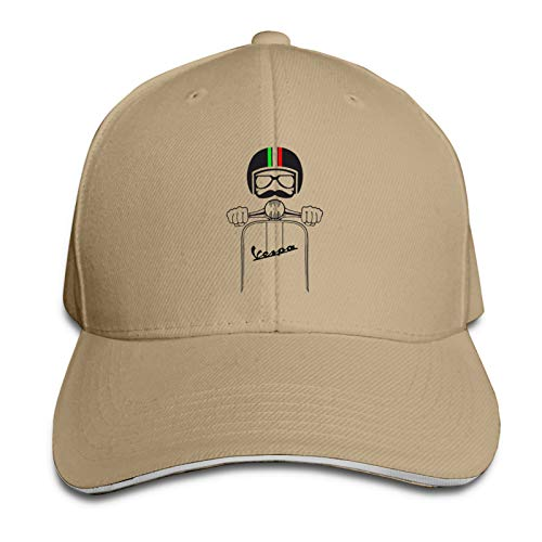 P&P Vespa Piaggio Vivtage Retro Hipster Uomo Donna Baseball Caps Men's and Women's Hat