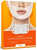 7 Piece V Line lifting Mask,Double Chin Reducer,V Shaped Face Slimming Lift Mask,Vline Reducer Mask,Face Lift Mask Tape