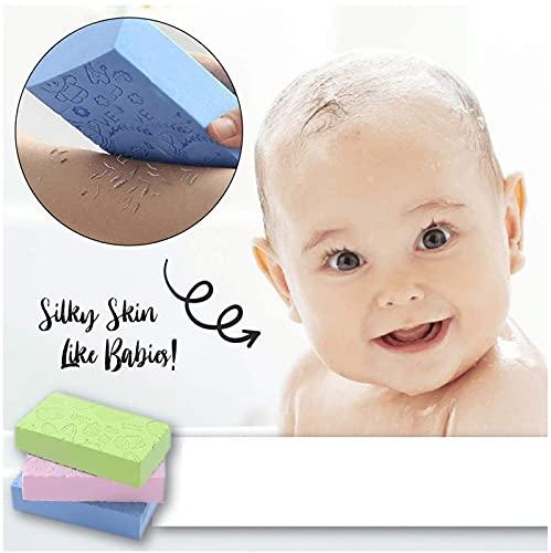 Ultra Soft Exfoliating Sponge Shower Brush,Cartoon Baby Bath Sponge Brush Rubbing Scrubber,Japanese Spa Cellulite Massager Dead Skin Sponge Remover for Body (1Pcs)