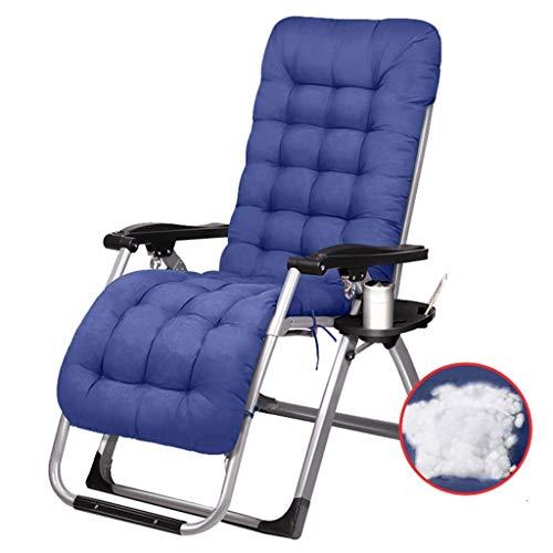 WJJJ Sillón Sillón Zero Gravity Lounge Sillones reclinables para Patio Sillón reclinable y sillón Ajustable en Altura con portavasos y reposacabezas (Color: Silla B + C)