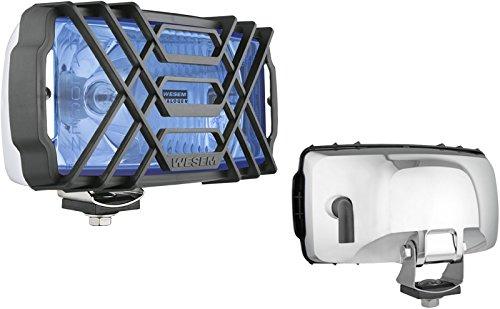 Zusatzscheinwerfer Blau Chrom mit Schutzgitter 12/24V Universal