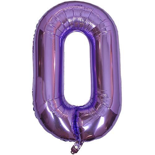 DIWULI, gigantescos Globos de número XXL, número 18, Globos púrpura Lila, número de Globos, Globos de Papel de Aluminio años, Globos Gigante Grande de Aluminio 18° cumpleaños, decoración, Fiesta