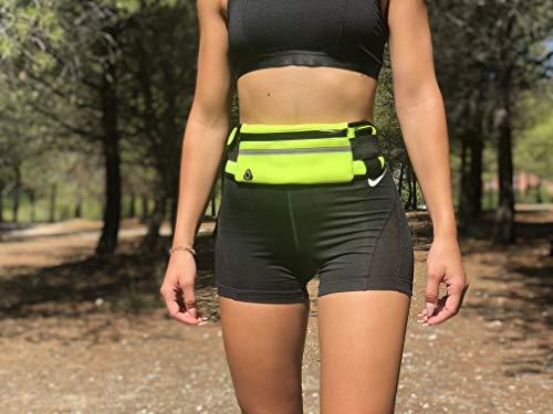 Riñonera Deportiva Hombre de Neopreno cinturón Running Mujer Impermeable Unisex con Tiras Reflectantes y Correa Ajustable para iPhone 12/12Pro/12ProMax/XR/XS/X/8 Samsung S20/10/S9/S8