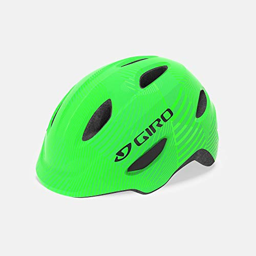 Giro Scamp MIPS Youth Recreational Bike Cycling Helmet - Small (49-53 cm), Green/Lime Lines (2020)