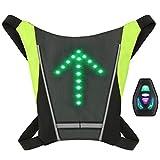 Lixada Chaleco de Ciclismo Reflectante con LED Señal de Giro USB Recargable Control Remoto para Ciclismo Trotar al Aire Libre