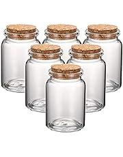 Cheriswelry Mini botellas de cristal con tapón de corcho transparente y vacío, ideal para bodas, manualidades, decoración de joyas
