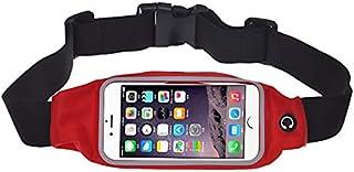 حافظة حقيبة خصر رياضية للركض والنادي الرياضي لهواتف ايفون 6 بلس (لون احمر)