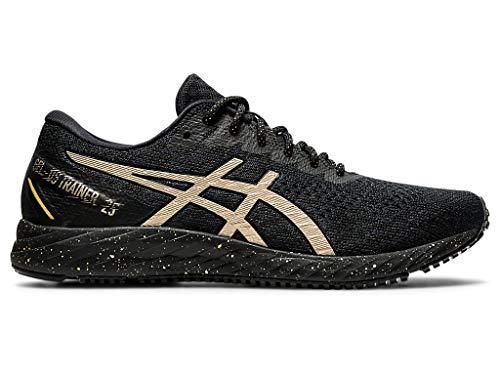 ASICS Women's Gel-DS Trainer 25 Running Shoes, 7M, Black/Champagne