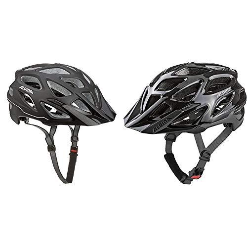 ALPINA Mythos 3.0 LE Fahrradhelm, Unisex– Erwachsene, Black matt, 59-64 & Mythos 3.0 Fahrradhelm, Unisex– Erwachsene, Black Anthracite, 59-64