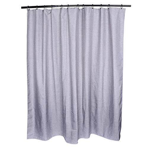 VOSAREA Grå linne gardin utomhus pool gardin skiljevägg gardin vattentät hängande gardin för skiljevägg (grå) Grå 180*180cm