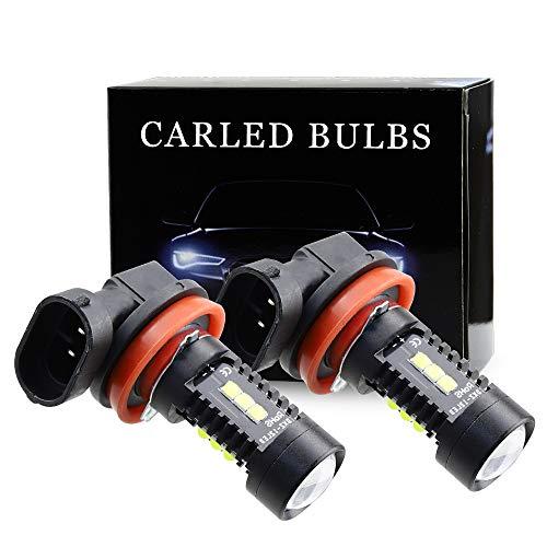 H11 H8 H9 Bombillas de luz Antiniebla LED - 2500LM 6500K Impermeables IP68 con Proyector de Lentes para Van Camión Coche Luces de Circulación Diurnas de Luces Blanco Frio