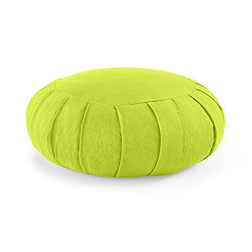 Lotuscrafts Zafu Meditation Cushion Zen - Height 15 cm - Spelt Filling...
