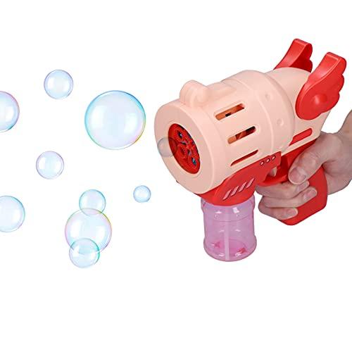 Yosoo Máquina de Burbujas, 3000+ Fabricante automático de Burbujas Soplador de Burbujas romántico de 5 Orificios para Interiores o Exteriores Bodas Escenarios Adorno Juguete para niños