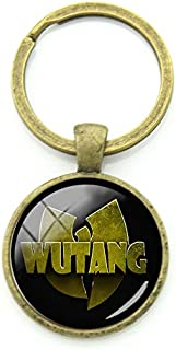 WU Tang Clan Keychains New York Hip-HOP Rap Band Key Chains Key Rings Antique Bronze Plated Music Fans Jewelry Gifts WT07