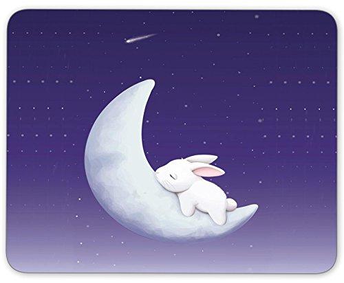 TuMeimei Non-Slip Rubber Mouse Pad (The Rabbit Sleeps on The Moon)