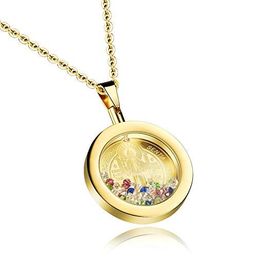 PURROMM Joyería Religiosa, Medalla de San Benito, Moda de T