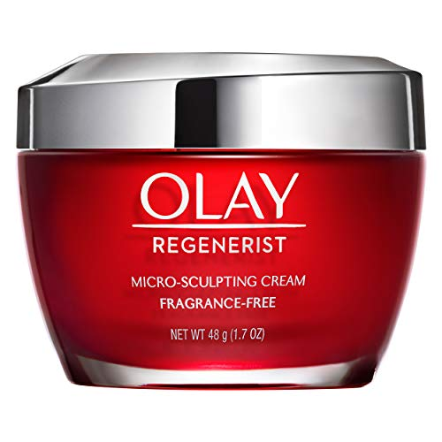 Olay Regenerist Micro-Sculpting Cream, Fragrance-Free Face Moisturizer with Hyaluronic Acid & Vitamin B3+, 1.7 oz