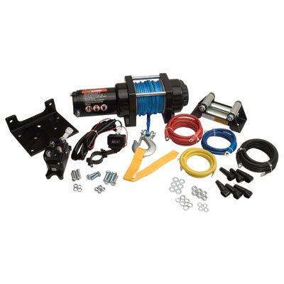 New TUSK Winch with Synthetic Rope and Mount Plate 3500 lb.