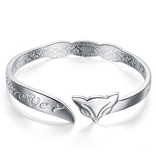 Paweenaso Ransopakul Bangle Chain Bracelet New Women Jewelry 925 Silver Fox Cuff Charm