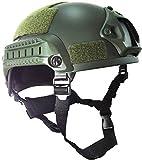 haoYK MICH 2001 estilo táctico airsoft paintball casco con montaje NVG y riel lateral para airsoft paintball