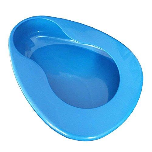 Sooiy Orinal de Asiento de Cama para Hombres y Mujeres postrados en Cama, cuña de PP Gruesa Estable para Pacientes postrados en Cama (11 x 13 cm, Azul)