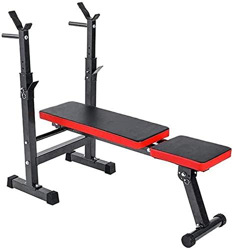 Home Equipment Banco de pesas ajustable Banco de entrenamiento plegable para ejercicios de gimnasio en casa Ideal para principiantes y profesionales Hombres y mujeres Sit Ups en casa Tablero supino