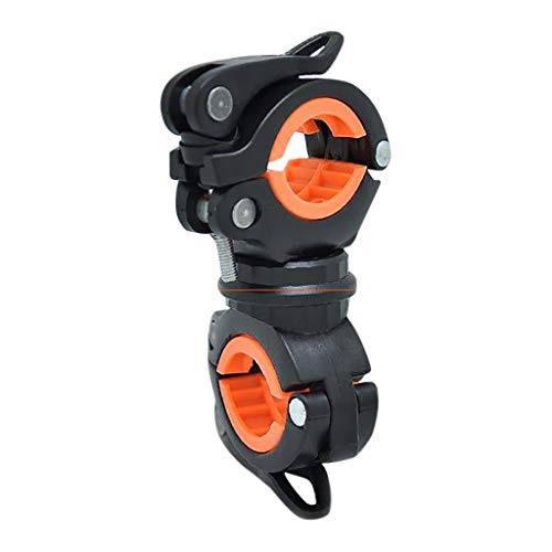 Janly Clearance Sale Sports & Outdoor - Soporte de linterna LED para bicicleta (360 grados), color naranja