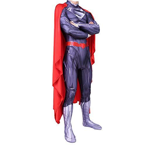 ZZX Traje De Superman, Traje De Superhéroe, Traje De Fiesta De Cosplay De La Liga De La Justicia, Disfraz De Halloween, Adulto/Niño