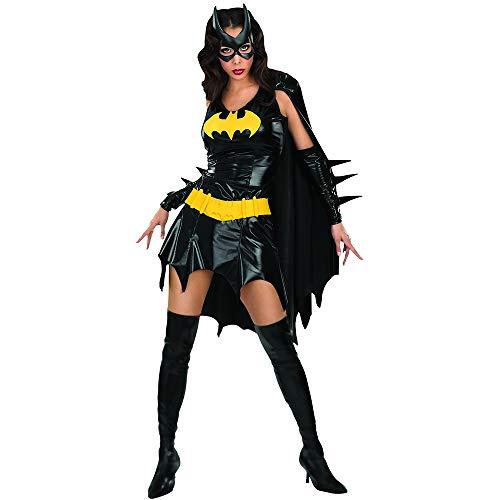 Batgirl Costume Women's Cape Dress Batman Outfit (L)