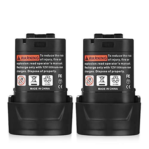 Powerextra Makitaマキタ BL1013 10.8V 3.6Ah 互換バッテリー 2個セット BL1014 194550-6 194551-4 DF030D DF330D TD090D 対応 リチウムイオン 大容量3600mAh マキタ充電式クリーナー 掃除機 電動工具用 予備電池 bl1013 マキタ バッテリー (2個セット)