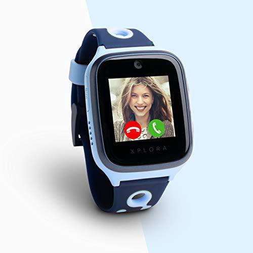 XPLORA 4 Kids Smartwatch Ozeanblau inkl. SIM-Karte im Vodafone Netz und 100€ Amazon-Gutschein | Smartwatch für Kinder | Kinderuhr mit GPS | Telefonuhr | GPS-Uhr
